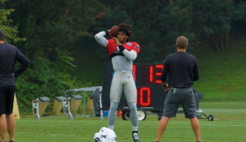 Cam tossing during warm ups.